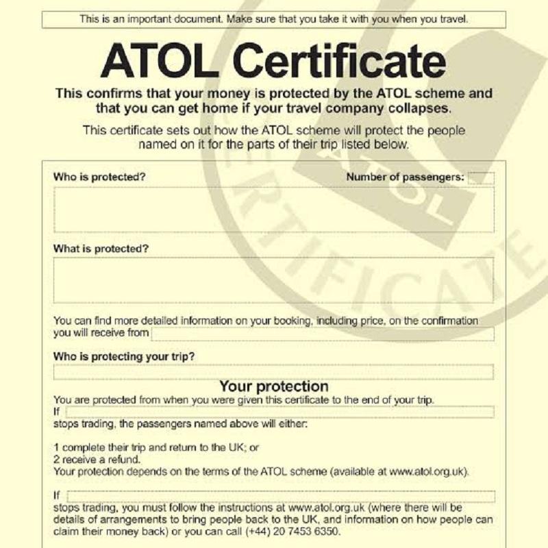 برنامج حماية ATOL لحمايتك عند السفر