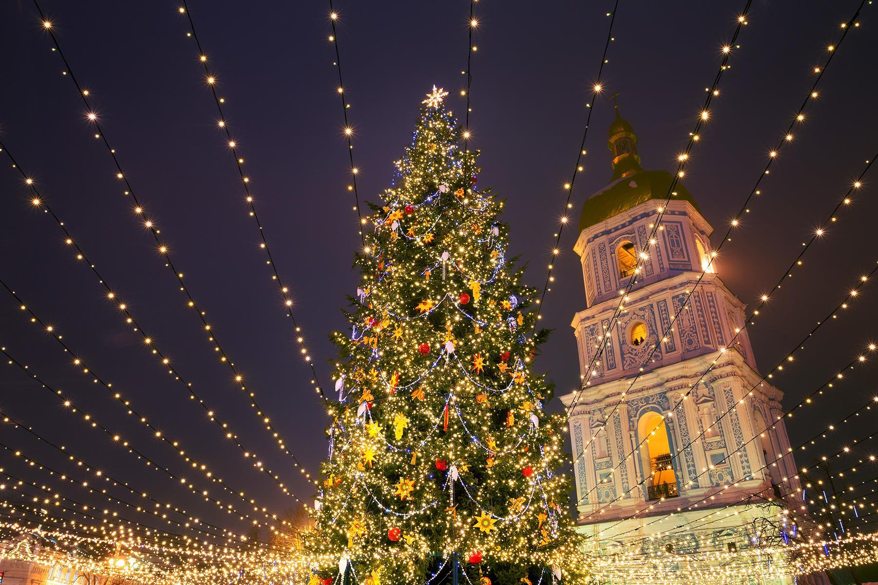 أضواء عيد الميلاد المذهلة دبي