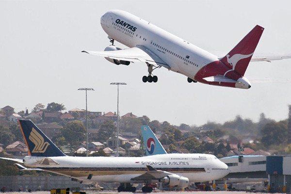 إلغاء الرحلات الجوية بسبب الرياح القوية في مطار سيدني