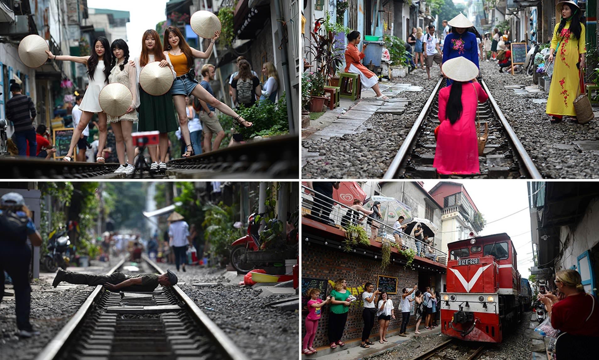 الحكومة تقرر إغلاق شارع القطار الشهير في هانوي أمام السياح