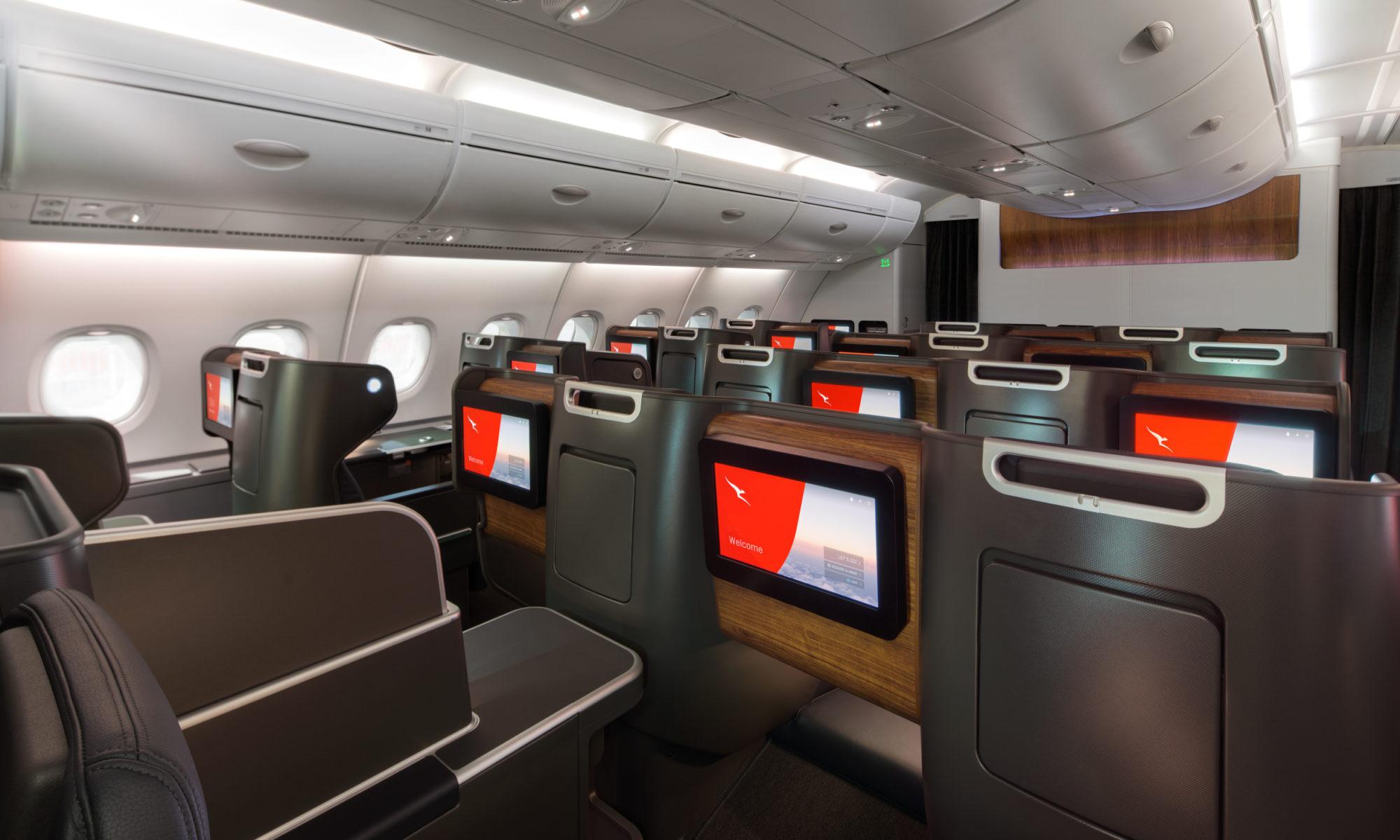 كانتاس الأسترالية ترقي مقاعد الدرجة الأولى على طائراتها A380 الجديدة