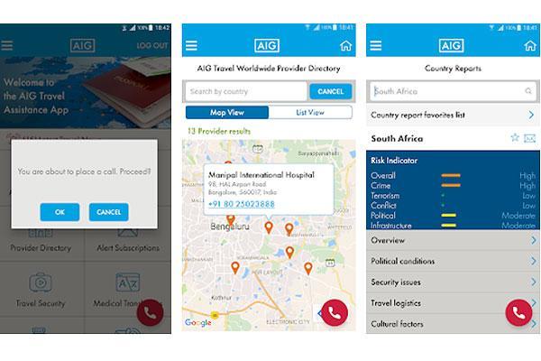 تطبيق جديد لشركة إيه آي جي ترافيل يعزز تأمين السفر من خلال ميزة أمان GeoSure