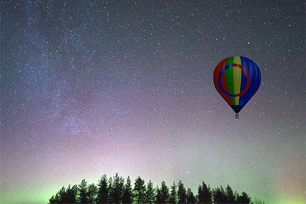 اورورا مناطيد الهواء الساخن .. طريقة جديدة للوصول إلى سماء الليل في القطب الشمالي