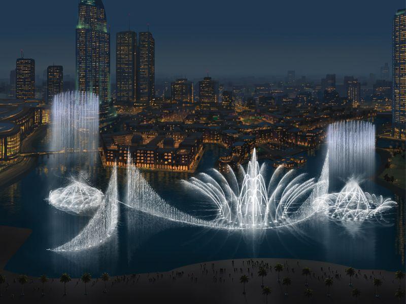 النافورة الراقصة في دبي
