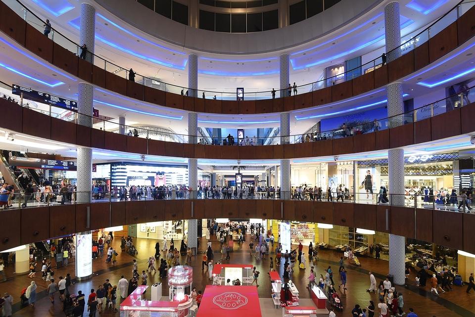 محلات التسوق في دبي مول