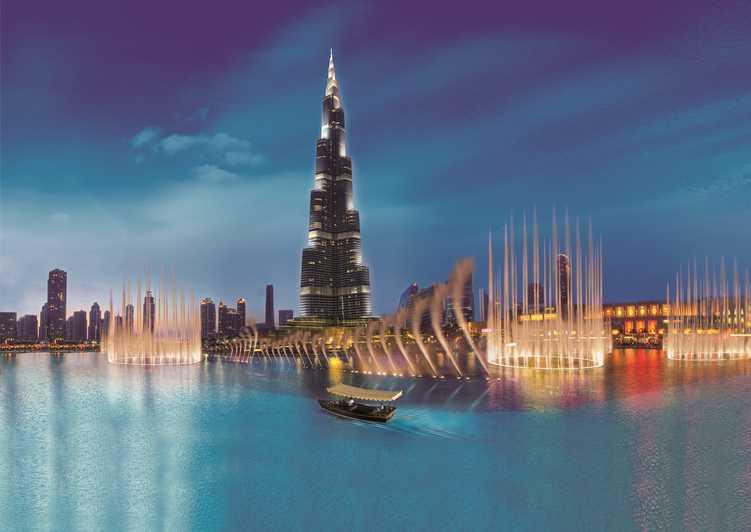 بحيرة برج خليفة وعرض النافورة المميز