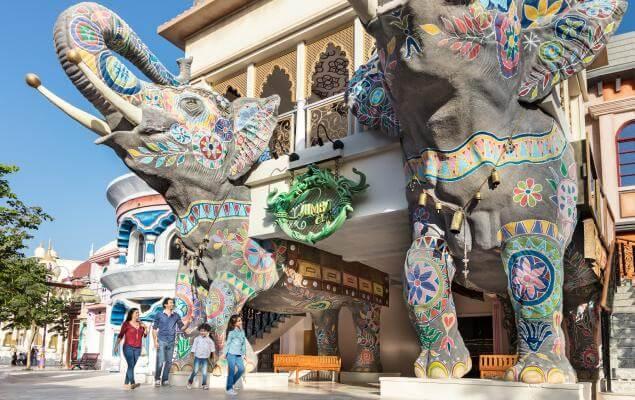 حدائق ومنتجعات دبي المدينة الأفضل حول العالم