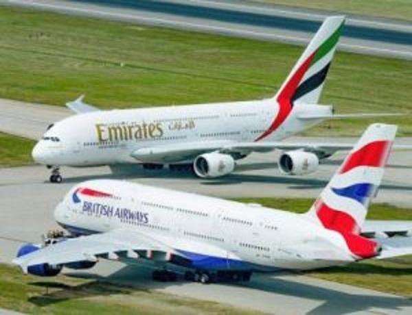 اصطدم طائرة الخطوط الجوية البريطانية